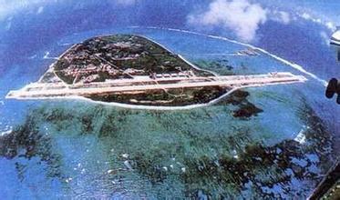 图片显示永暑岛的面积正在继续扩大