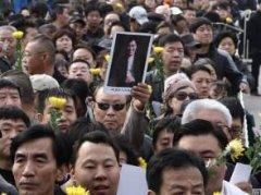 已经去世的相声演员,相声演员笑林去世原因,笑林追悼会葬礼现场图