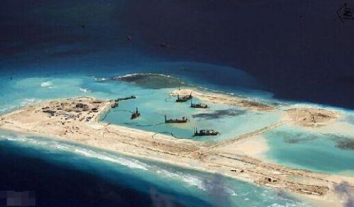 中国南海又一岛礁开工填海,南沙中国实际占的岛礁(2)