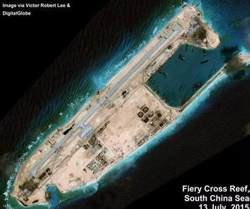 中国南海又一岛礁开工填海,南沙中国实际占的岛礁(3)