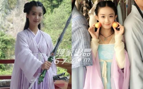 赵丽颖整容前后照片对比 赵丽颖替身完胜本尊她是谁?