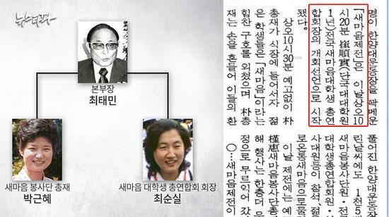 崔顺实真的加入邪教了吗 崔顺实父亲崔泰民资料背景是邪教成员吗?