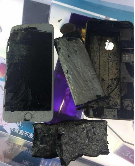 iPhone爆炸门现场照电池爆炸的前兆 苹果手机为什么会爆炸原因揭