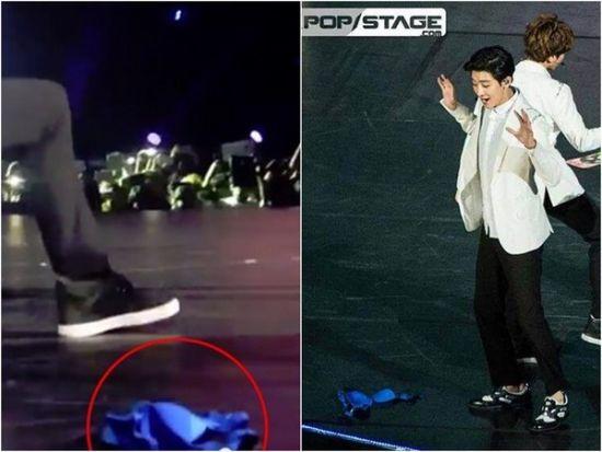粉丝捡到鹿晗手机私密曝光,女粉丝向EXO鹿晗扔内衣现场视频图片