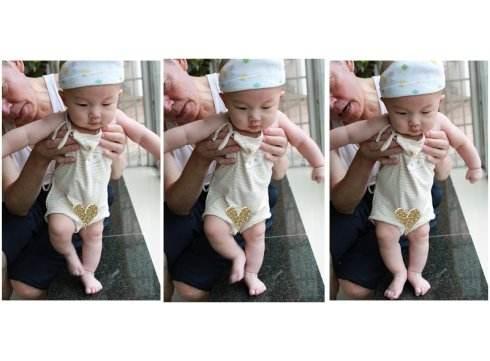 婴儿出生就会走路视频是天才有超能力?宝宝没有踏步反射是脑瘫吗