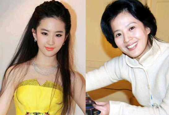 刘亦菲妈妈刘晓莉年轻照片曝光刘亦菲妈妈和陈金飞什么关系混乱情