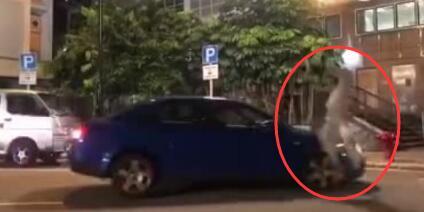 TVB男星梁烈唯被汽车撞飞现场惊险视频图, 梁烈唯近况受伤了吗?
