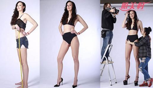世界第一长腿小姐埃卡特里娜个人资料身高, 132厘米逆天长腿图片