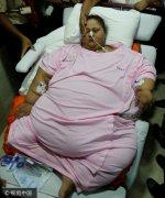 全球最胖女性艾提1000斤吓人照片, 艾提为什么这么胖减肥不行吗?