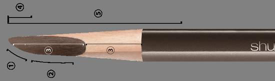 植村秀砍刀眉笔怎么削,植村秀眉妆眉笔的使用方法-